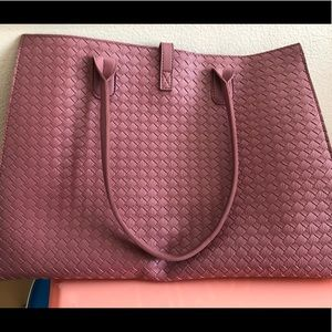 Dusty rose pink tote purse